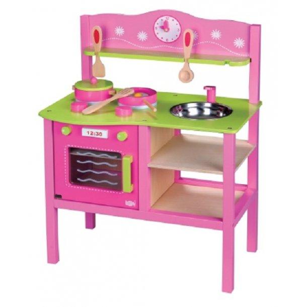 Legekøkken i pink og lime