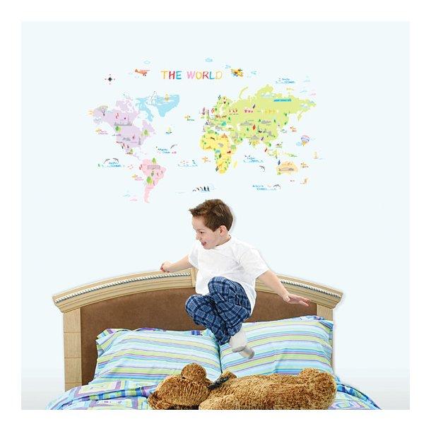 Multifarvet verdenskort