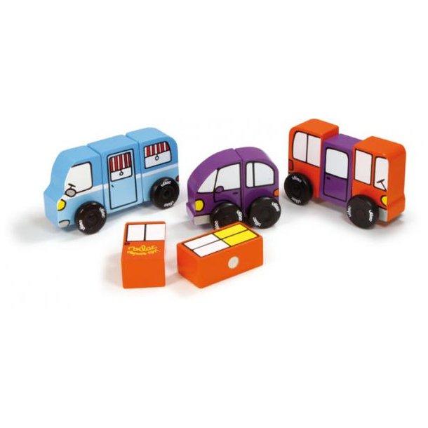 Træbiler magneter