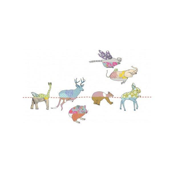 Wallstickers - Puslespil med dyr