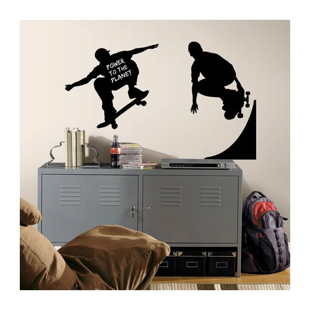 Wallstickers - Skateboard og skater
