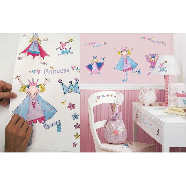 Wallstickers med Prinsesser