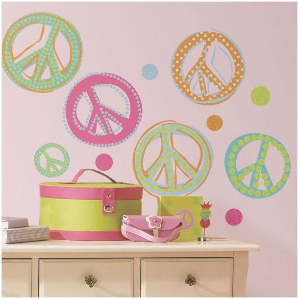 Wallstickers - Peace tegn