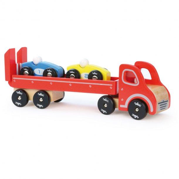 Vilac - Bil transporter med biler, træ