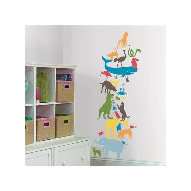 Wallstickers - Forskellige & farverige dyr