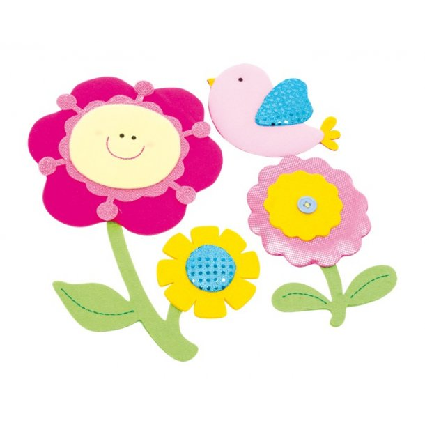 Wallsticker med 3D Blomster