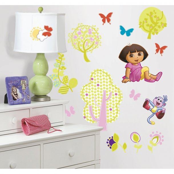 Wallstickers med Dora the Explorer