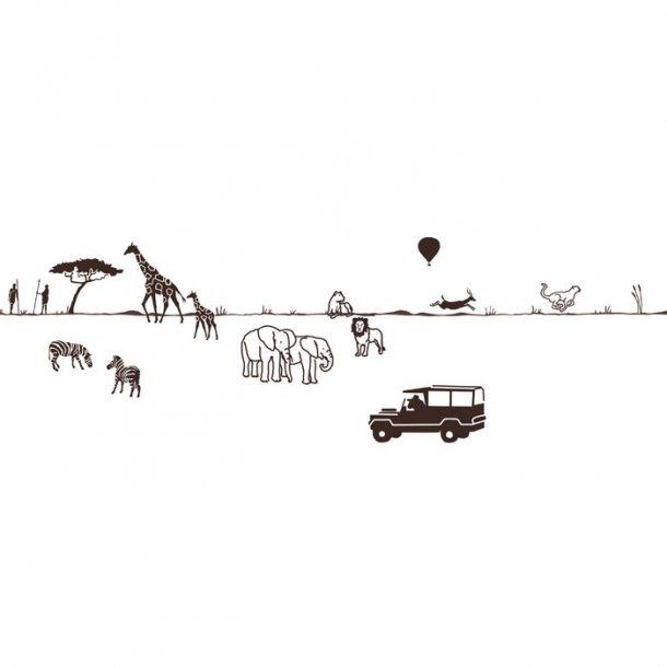 Wall border - safari
