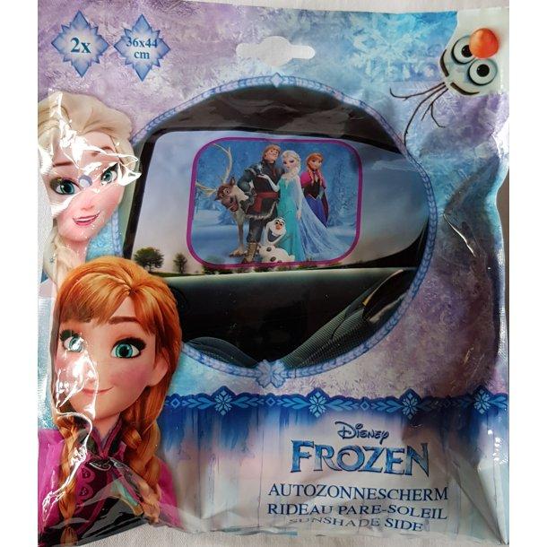 Solskærm til bilen med alle Frozen figurer