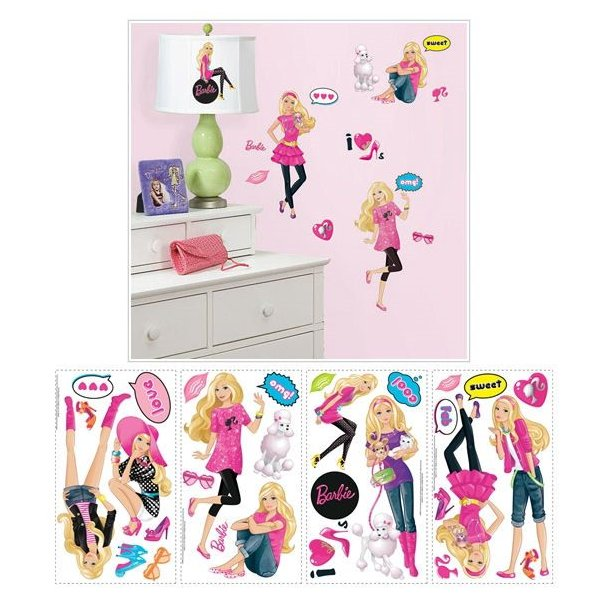 Wallsticker med Barbie