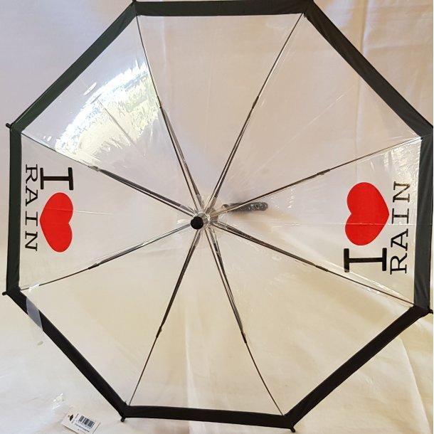 Børneparaply - I love rain