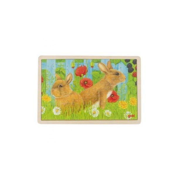 Puslespil fra Goki med Kaniner