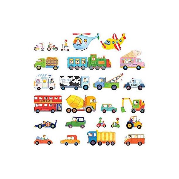 Wallsticker med forskellige køretøjer