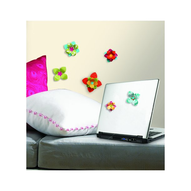Wallstickers - blomster i 3D