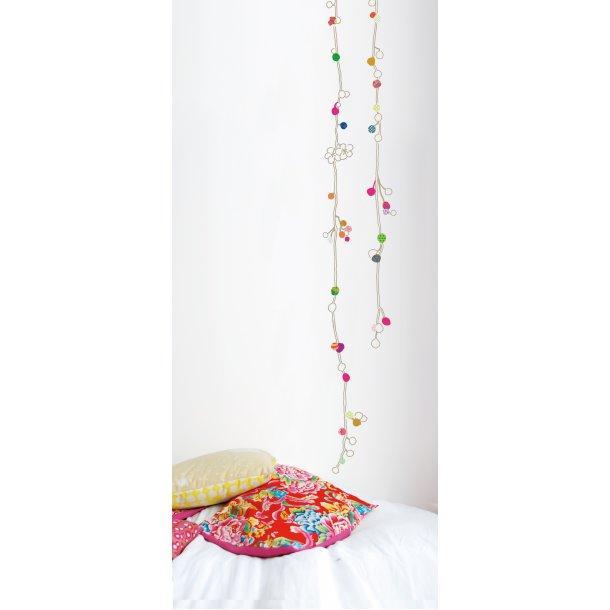 Wallstickers med hængende kirsebærblomst