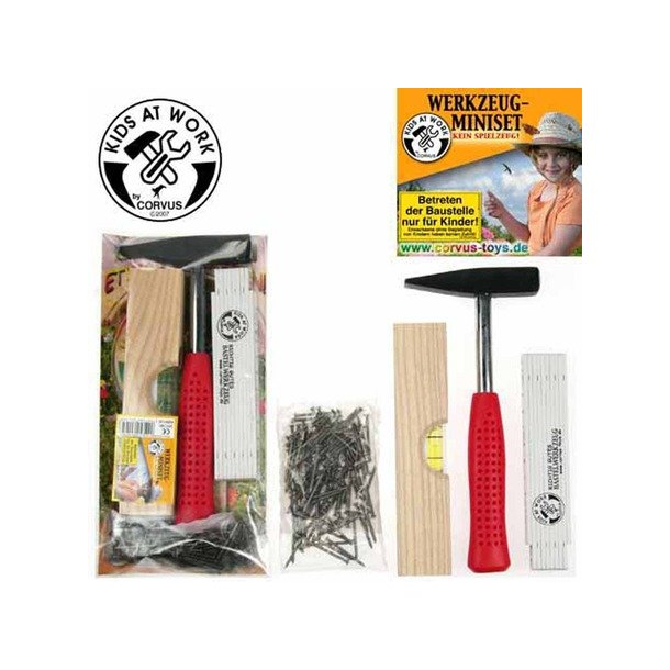 Værktøjsæt (Hammer, tommestok & vaterpas)