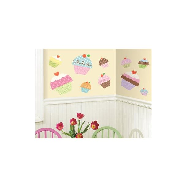 Wallsticker 10 store cupcakes