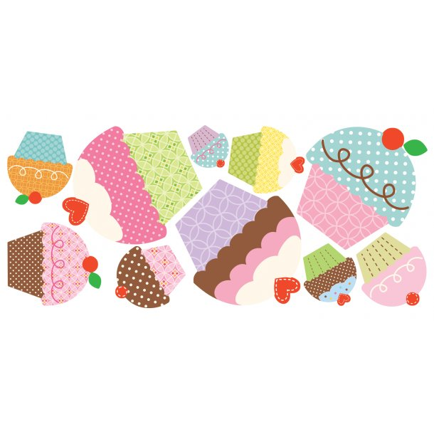 Wallsticker 10 store cupcakes