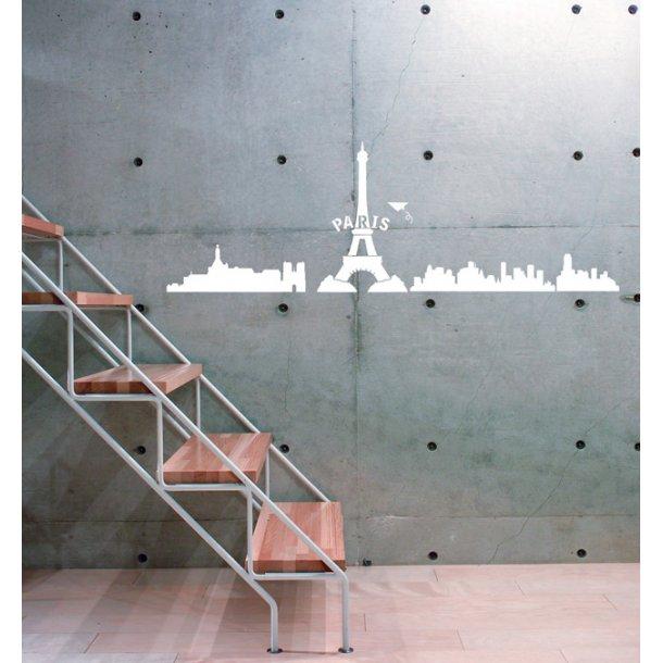 Paris wallsticker, hvid