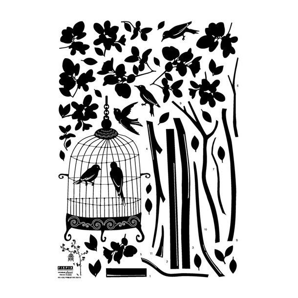 Fuglebur i flot træ