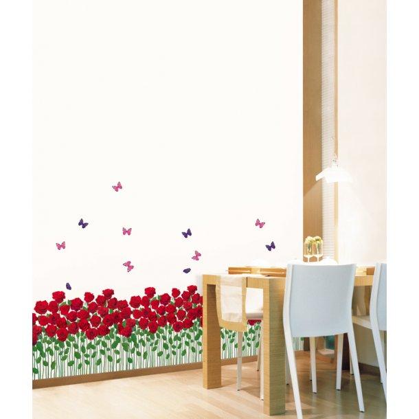Roser og sommerfugle