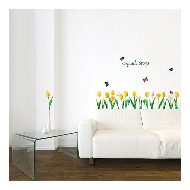 Gule og hvide tulipaner
