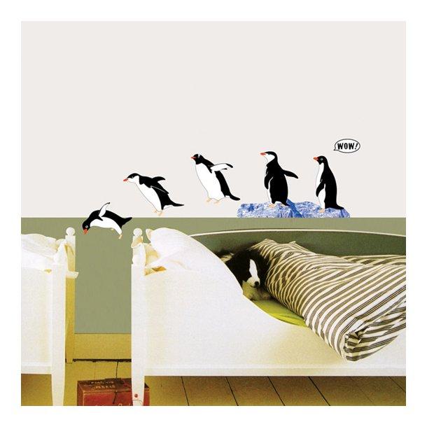 Pingviner - wallsticker
