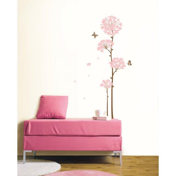 Lang lyserød blomst