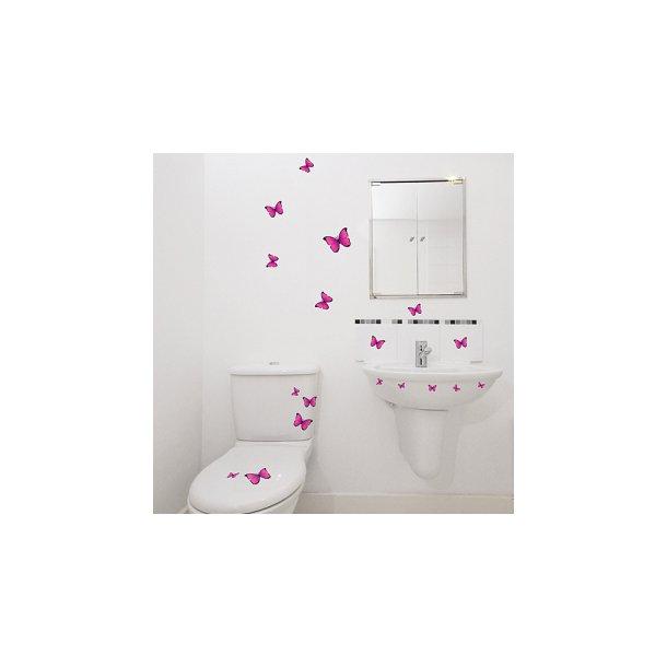 Pink sommerfugle