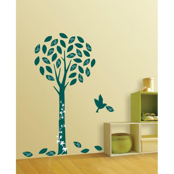 Velour - Mørkegrønt træ