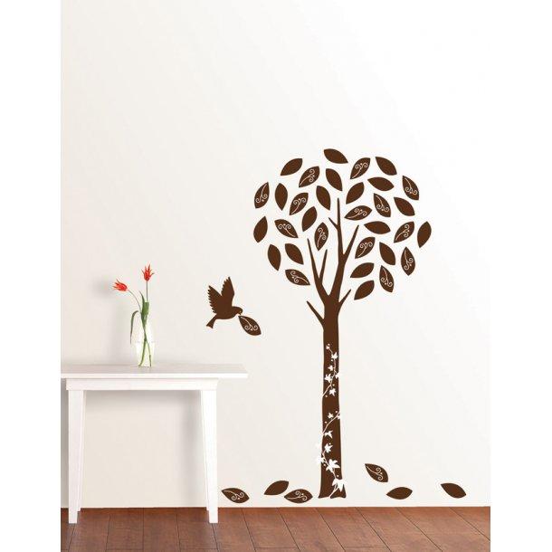 Velour - Mørkebrunt træ