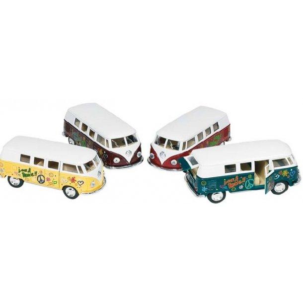 Klassisk folkevognsbus med LoveAndPeace fra KiNSMART