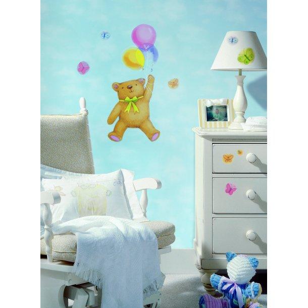 Wallstickers: Bamse med balloner