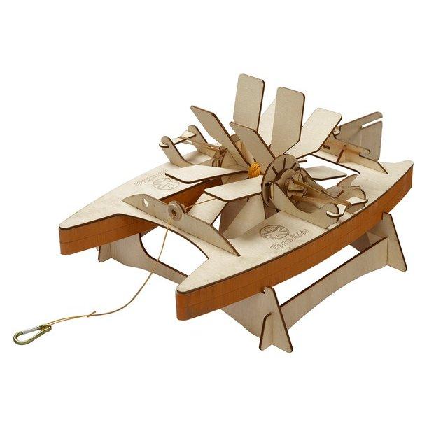 Katamaran i træ - gør-det-selv skib fra Haba/TerraKids