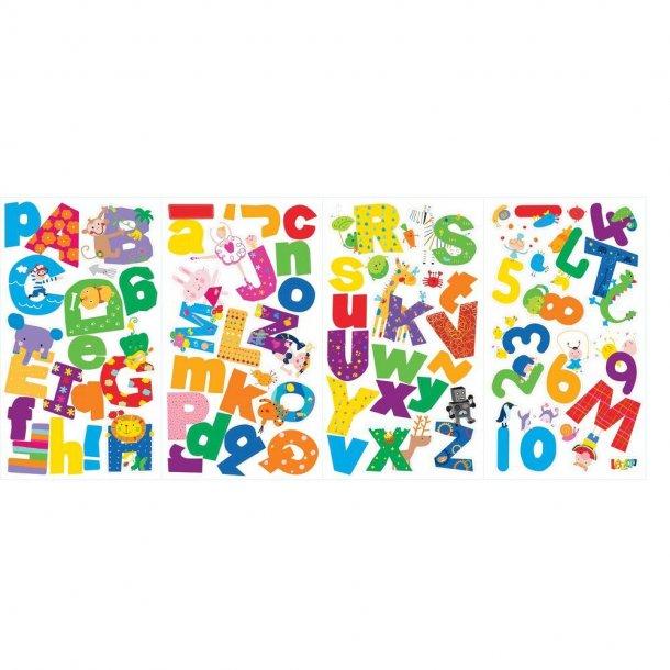 Wallsticker fra Lazoo med alfabet og sjove figurer