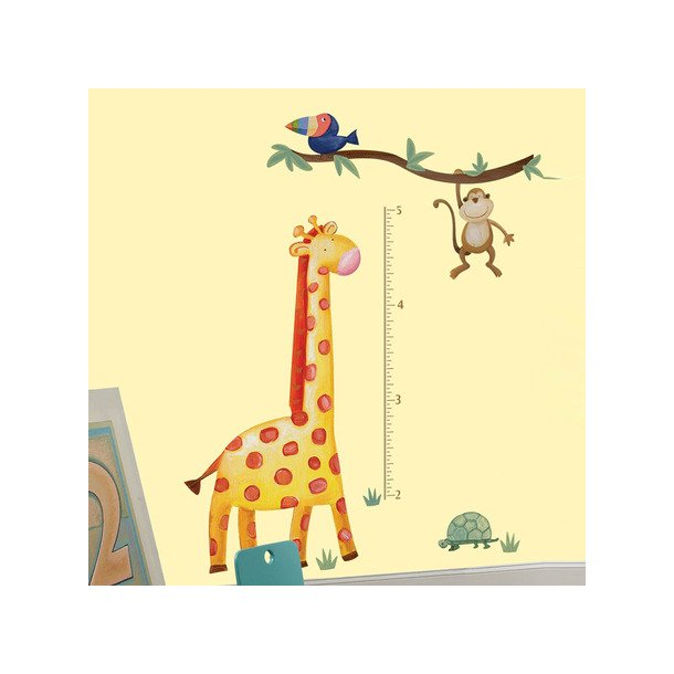 Wallsticker målepind med giraf fra RoomMates