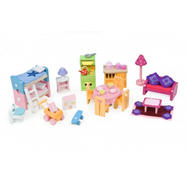 Le Toy Van - de luxe møbelsæt til dukkehus