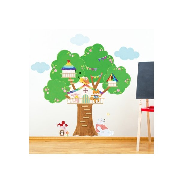 Wallsticker, musikanter i et træ