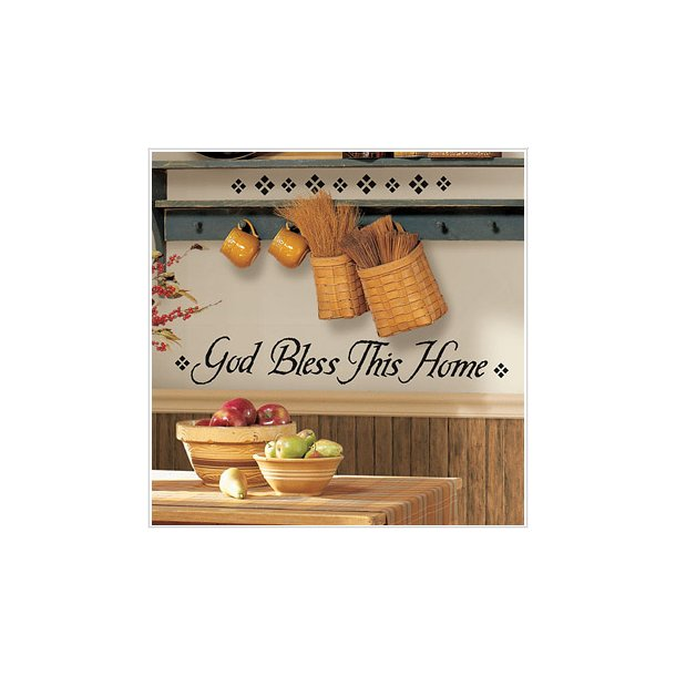 Wallstickers - God bless this home