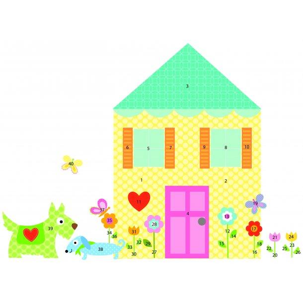 Wallstickers - byg et hus