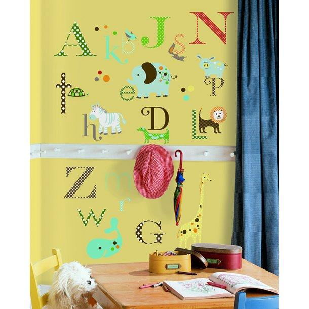 RoomMates Wallsticker, alfabetet med dyr