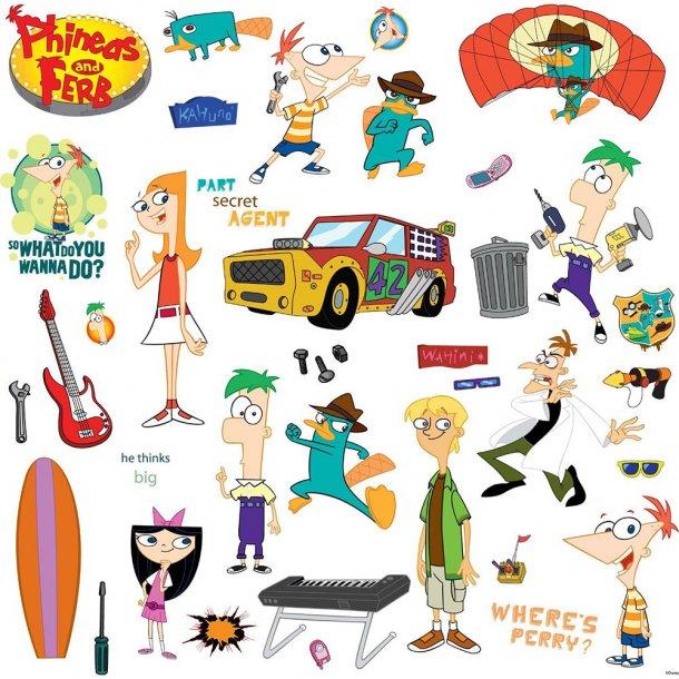 Disney Wallsticker, Phineas og Ferb