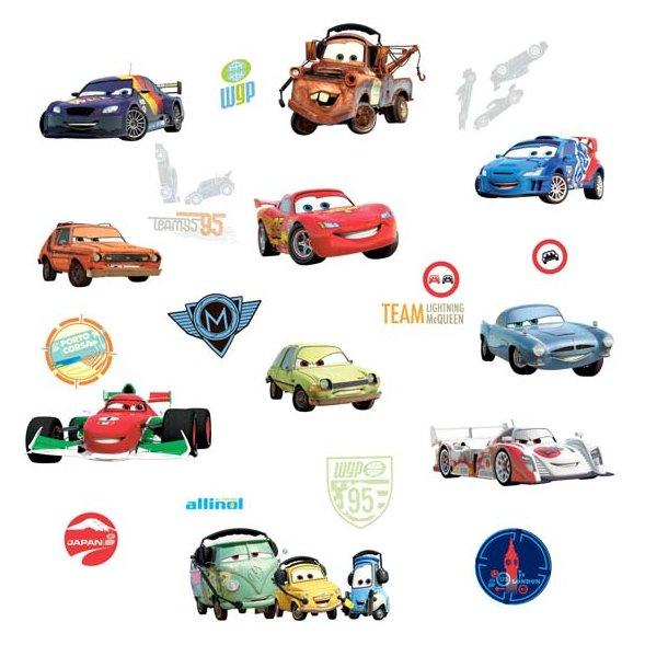 Wallstickers med bilerne fra Cars