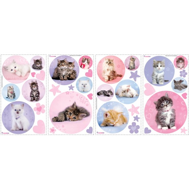Wallstickers med kattekillinger