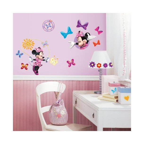 Wallstickers Minnie Mouse  & Andersine