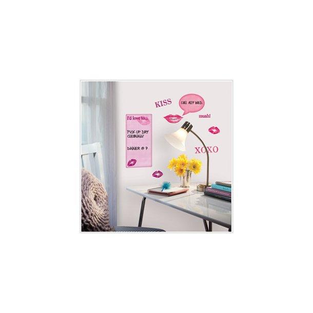 Wallstickers whiteboard til pigeværelset