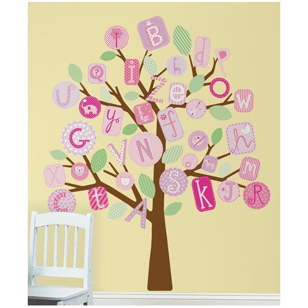 ABC træ - pink