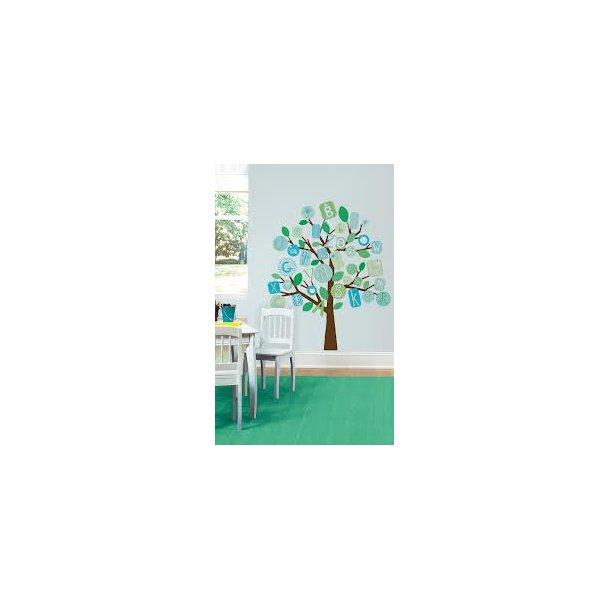Blå ABC træ