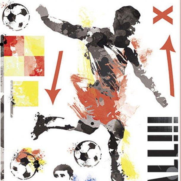 Wallsticker, forboldspiller skyder mål