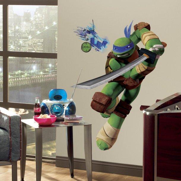 Wallstickers med Leonardo fra Turtles